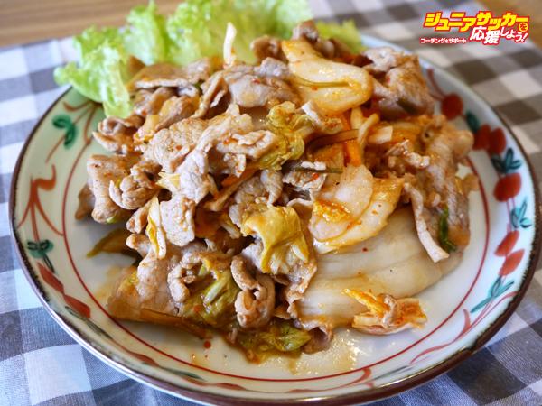 食堂特製豚キムチ炒め_l