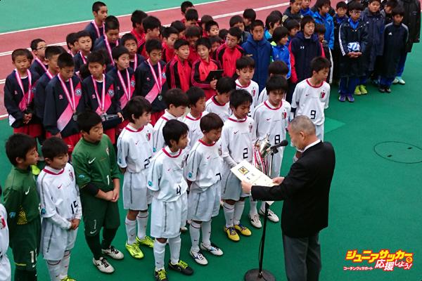 第41回茨城県学年別少年サッカー大会鹿島Jr優勝