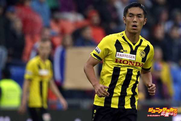 BASEL, SWITZERLAND - AUGUST 31: Yuya Kubo of Bern reacts during the Raiffeisen Super League match between FC Basel and BSC Young Boys Bern at St.Jakob-Park on August 31, 2014 in Basel, Switzerland.  (Photo by Ronald Wittek/Getty Images)