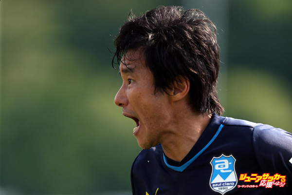 NUMAZU, JAPAN - SEPTEMBER 05:  (EDITORIAL USE ONLY) Masashi Nakayama of Azul Claro Numazu reacts during the Azul Claro Numazu training session on September 5, 2015 in Numazu, Japan.  (Photo by Kaz Photography/Getty Images)