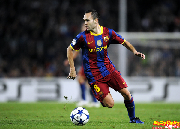 BARCELONA, SPAIN - OCTOBER 20:  Andres Iniesta of Barcelona runs with ball during the UEFA Champions League group D match between Barcelona and FC Copenhagen at the Camp nou stadium on October 20, 2010 in Barcelona, Spain. Barcelona won the match 2-0.  (Photo by David Ramos/Getty Images) *** Local Caption *** Andres Iniesta