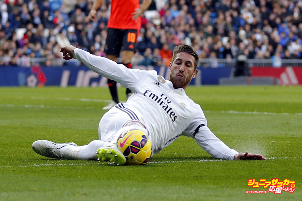 MADRID, SPAIN - JANUARY 31: (SPAIN OUT)  Sergio Ramos of Real Madrid in action during the La Liga match between Real Madrid CF and Real Sociedad at Estadio Santiago Bernabeu on January 31, 2015 in Madrid, Spain.  (Photo by Helios de la Rubia/Real Madrid via Getty Images)