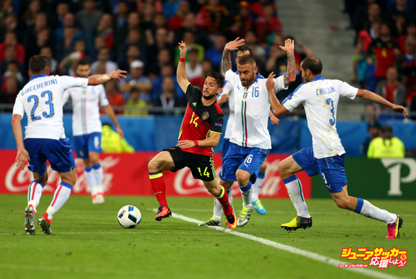 LYON, FRANCE - JUNE 13: Dries Mertens of Belgium in action during the UEFA EURO 2016 Group E match between Belgium and Italy at Stade des Lumieres on June 13, 2016 in Lyon, France. (Photo by Catherine Ivill - AMA/Getty Images)