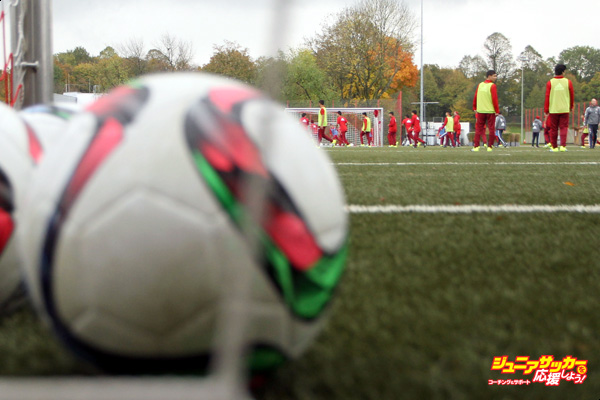 MUNICH, GERMANY - OCTOBER 19:  Refugee boys practise during a training session with FC Bayern Muenchen team coaches at Saebener Strasse training ground on October 19, 2015 in Munich, Germany.  (Photo by Alexandra Beier/Bongarts/Getty Images)