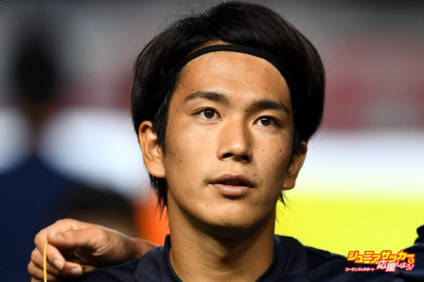 MATSUMOTO, JAPAN - JUNE 29:  Shinya Yajima of Japan looks on prior to the U-23 international friendly match between Japan v South Africa at the Matsumotodaira Football Stadium  on June 29, 2016 in Matsumoto, Nagano, Japan.  (Photo by Masterpress/Getty Images)