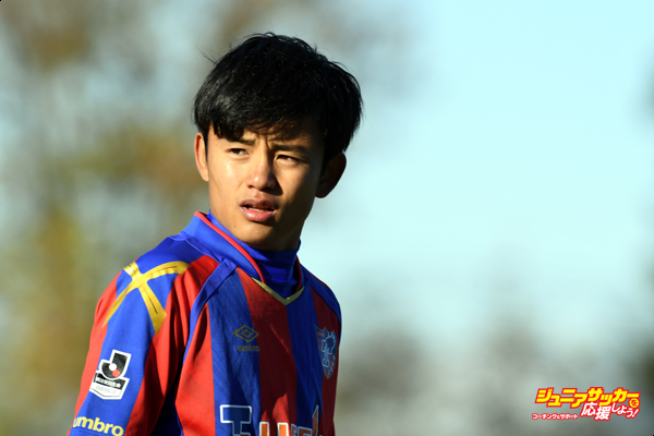 KODAIRA, JAPAN - DECEMBER 11:  (EDITORIAL USE ONLY) Takefusa Kubo of FC Tokyo U-18 looks on during the Prince Takamado Trophy U-18 Premier League East match between FC Tokyo U-18 and Aomori Yamada at FC Tokyo Kodaira Ground on December 11, 2016 in Kodaira, Tokyo, Japan.  (Photo by Etsuo Hara/Getty Images)