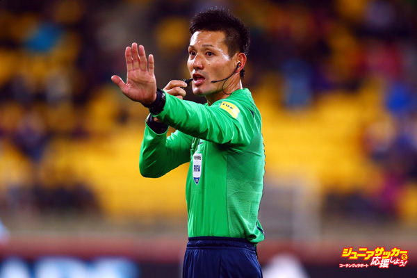 WELLINGTON, NEW ZEALAND - JUNE 05: Referee Ryuji Sato reacts during the FIFA U-20 World Cup New Zealand 2015 Group B match between Austria and Argentina at Wellington Regional Stadium on June 5, 2015 in Wellington, New Zealand.  (Photo by Alex Grimm - FIFA/FIFA via Getty Images)