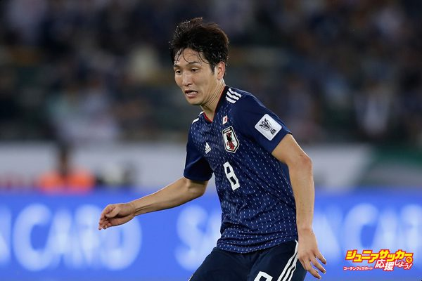 ABU DHABI, UNITED ARAB EMIRATES - JANUARY 13:  Haraguchi Genki of Japan in action during the AFC Asian Cup Group F match between Oman and Japan at Zayed Sports City Stadium on January 13, 2019 in Abu Dhabi, United Arab Emirates.  (Photo by Francois Nel/Getty Images)