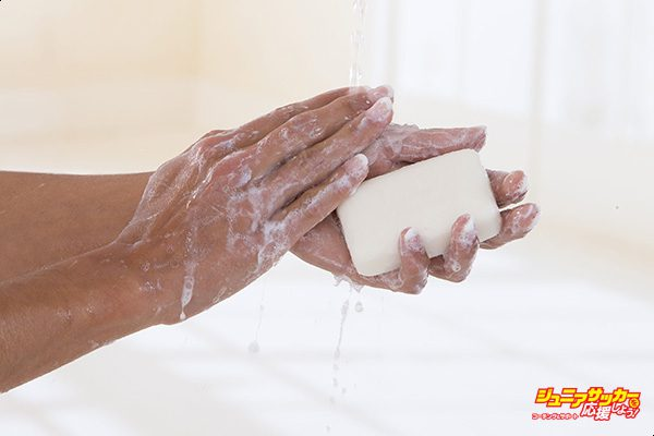 In this photo illustration it shows - Hand hygiene woman. (Photo Illustration by: Media for Medical/UIG via Getty Images)