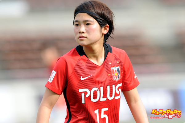 SAITAMA, JAPAN - APRIL 09:  (EDITORIAL USE ONLY)Fuka Nagano of Urawa Red Diamonds Ladies looks on during the Nadeshiko League Cup Group B match between Urawa Red Diamonds Ladies and Chifure AS Elfen Saitama at Urawa Komaba Stadium on April 9, 2017 in Saitama, Japan.  (Photo by Hiroki Watanabe/Getty Images)