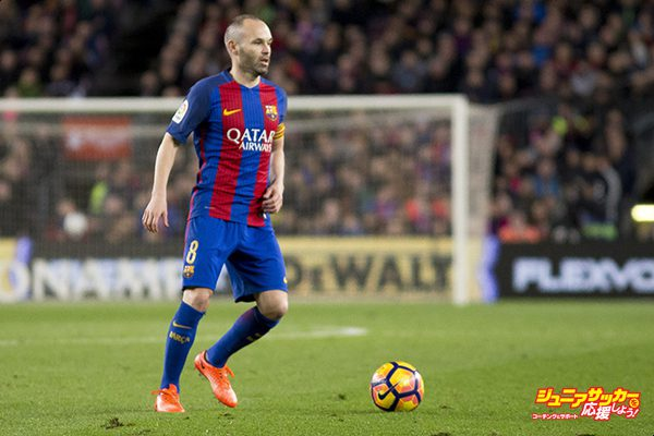 BARCELONA, SPAIN - MARCH 4: Andres Iniesta of Barcelona in action during La Liga match between the FC Barcelona and Celta de Vigo at the Camp Nou Stadium in Barcelona, Spain on March 4, 2017.  (Photo by Albert Llop/Anadolu Agency/Getty Images)