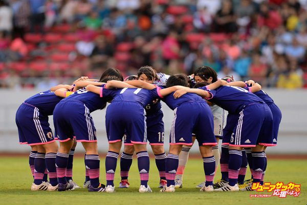 SAN JOSE, COSTA RICA - APRIL 04:  The team of Japan huddle during the FIFA U-17 Women's World Cup Final between Japan and Spain at Estadio Nacional on April 4, 2014 in San Jose, Costa Rica.  (Photo by Jamie McDonald - FIFA/FIFA via Getty Images)