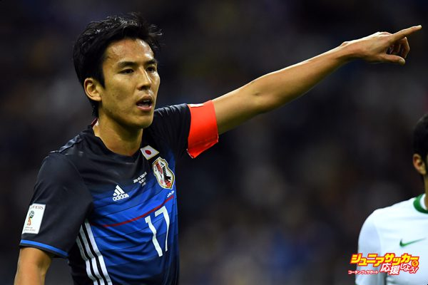 SAITAMA, JAPAN - NOVEMBER 15:  Makoto Hasebe of Japan in action during the 2018 FIFA World Cup Qualifier match between Japan and Saudi Arabia at Saitama Stadium on November 15, 2016 in Saitama, Japan.  (Photo by Masterpress/Getty Images)