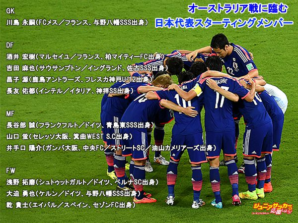 RECIFE, BRAZIL - JUNE 14:  Players of Japan form a huddle during the 2014 FIFA World Cup Brazil Group C match between Cote D'Ivoire and Japan at Arena Pernambuco on June 14, 2014 in Recife, Brazil.  (Photo by Shaun Botterill - FIFA/FIFA via Getty Images)