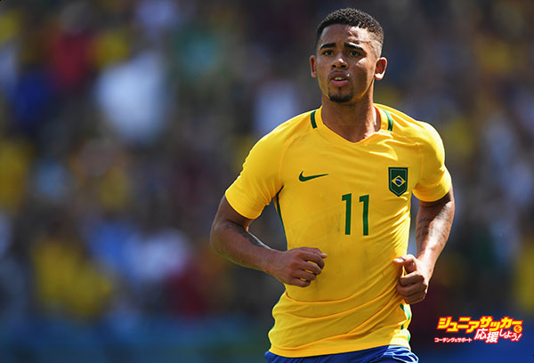 RIO DE JANEIRO, BRAZIL - AUGUST 17:  Gabriel Jesus of Brazil in action during the Olympic Men's semi final match between Brazil and Honduras at Maracana Stadium on August 17, 2016 in Rio de Janeiro, Brazil.  (Photo by Stuart Franklin - FIFA/FIFA via Getty Images)