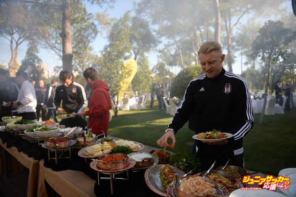 ANTALYA, TURKEY - JANUARY 8:  Andreas Beck of Besiktas attends the team's barbecue party for journalists in Antalya, Turkey on January 8, 2016. (Photo by Arif Hudaverdi Yaman/Anadolu Agency/Getty Images)