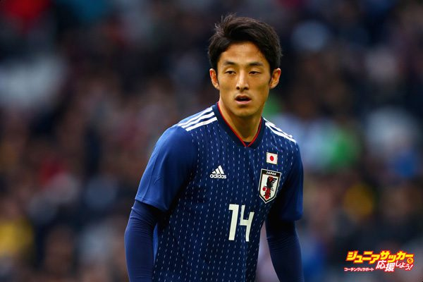 LILLE, FRANCE - NOVEMBER 10:  Ryota Morioka of Japan in action during the international friendly match between Brazil and Japan at Stade Pierre-Mauroy on November 10, 2017 in Lille, France.  (Photo by Clive Rose/Getty Images)