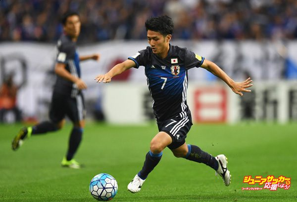 SAITAMA, JAPAN - SEPTEMBER 01:  Ryota Ohshima of Japan in action during the 2018 FIFA World Cup Qualifier Final Round Group B match between Japan and United Arab Emirates at Saitama Stadium on September 1, 2016 in Saitama, Japan.  (Photo by Atsushi Tomura/Getty Images)