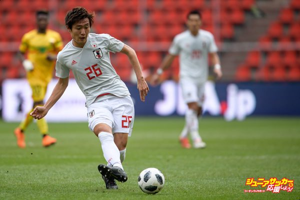 LIEGE, BELGIUM - MARCH 23: Kento Misao of Japan during the International friendly match between Japan and Mali at the Stade de Sclessin on March 23, 2018 in Liege Belgium. (Photo by Jörg Schüler/Getty Images)