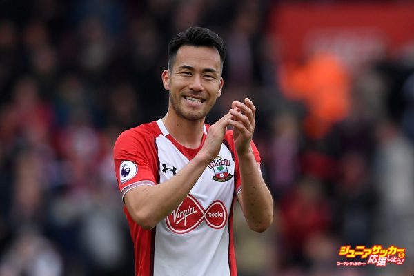 SOUTHAMPTON, ENGLAND - APRIL 28:  Maya Yoshida of Southampton applauds fans after the Premier League match between Southampton and AFC Bournemouth at St Mary's Stadium on April 28, 2018 in Southampton, England.  (Photo by Mike Hewitt/Getty Images)