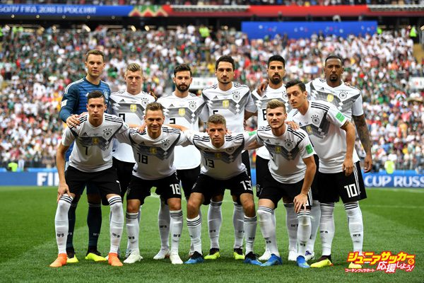 MOSCOW, RUSSIA - JUNE 17:  The Germany team pose for a team photo prior to the 2018 FIFA World Cup Russia group F match between Germany and Mexico at Luzhniki Stadium on June 17, 2018 in Moscow, Russia.  (Photo by David Ramos - FIFA/FIFA via Getty Images)
