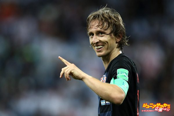 NIZHNY NOVGOROD, RUSSIA - JUNE 21:  Luka Modric of Croatia celebrates after scoring his team's second goal during the 2018 FIFA World Cup Russia group D match between Argentina and Croatia at Nizhny Novgorod Stadium on June 21, 2018 in Nizhny Novgorod, Russia.  (Photo by Maja Hitij - FIFA/FIFA via Getty Images)