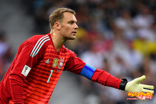 SOCHI, RUSSIA - JUNE 23:  Manuel Neuer reacts during the 2018 FIFA World Cup Russia group F match between Germany and Sweden at Fisht Stadium on June 23, 2018 in Sochi, Russia.  (Photo by Stuart Franklin - FIFA/FIFA via Getty Images)