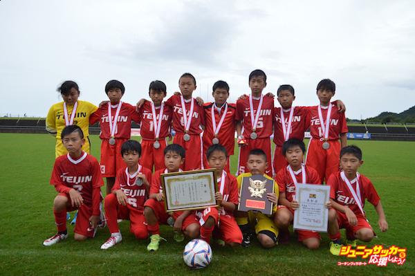 準優勝 帝人サッカースクール