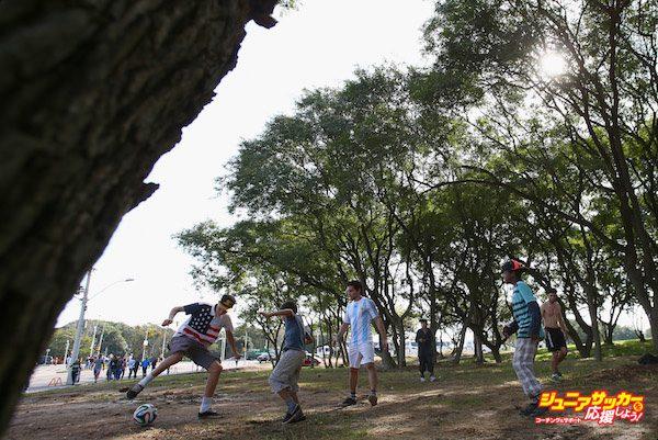 before Argentina trains at Estadio Beira-Rio on June 24, 2014 in Porto Alegre, Brazil.