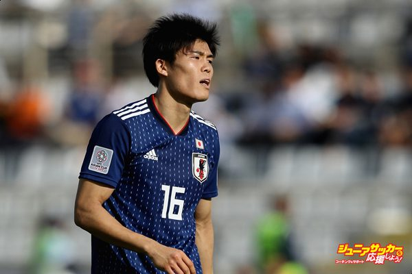 ABU DHABI, UNITED ARAB EMIRATES - JANUARY 09:  Takehiro Tomiyasu of Japan looks on during the AFC Asian Cup Group F match between Japan and Turkmenistan at Al Nahyan Stadium on January 9, 2019 in Abu Dhabi, United Arab Emirates.  (Photo by Francois Nel/Getty Images)