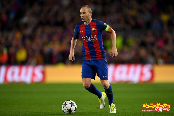 BARCELONA, SPAIN - APRIL 19:  Andres Iniesta ofBarcelona in action during the UEFA Champions League Quarter Final second leg match between FC Barcelona and Juventus at Camp Nou on April 19, 2017 in Barcelona, Spain.  (Photo by Shaun Botterill/Getty Images)