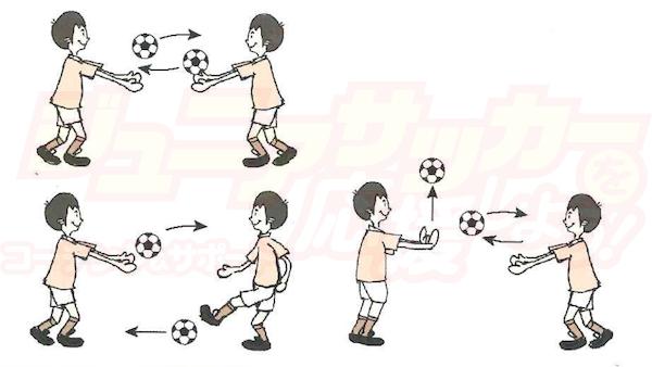 ふたりでボールキャッチ(トレーニング)