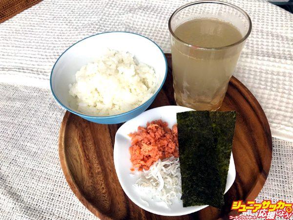 鮭シラス雑炊 食材